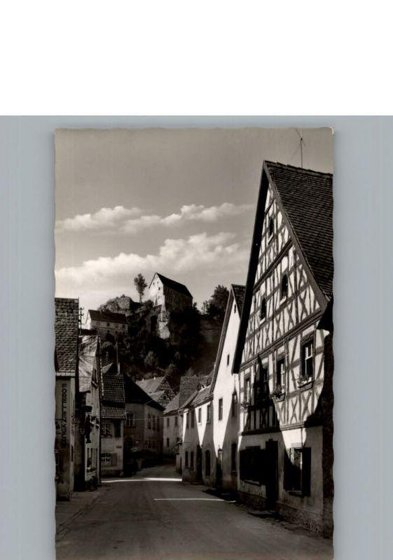 Pottenstein Oberfranken Fischergasse / Pottenstein /Bayreuth LKR
