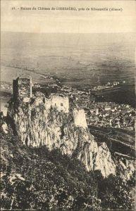 Ribeauville Haut Rhin Elsass Ruines Chateau Giersberg / Ribeauville /Arrond. de Ribeauville