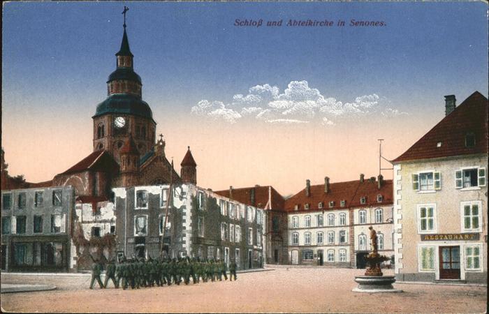 Senones Vosges Schloss Abteikirche / Senones /Arrond. de Saint-Die