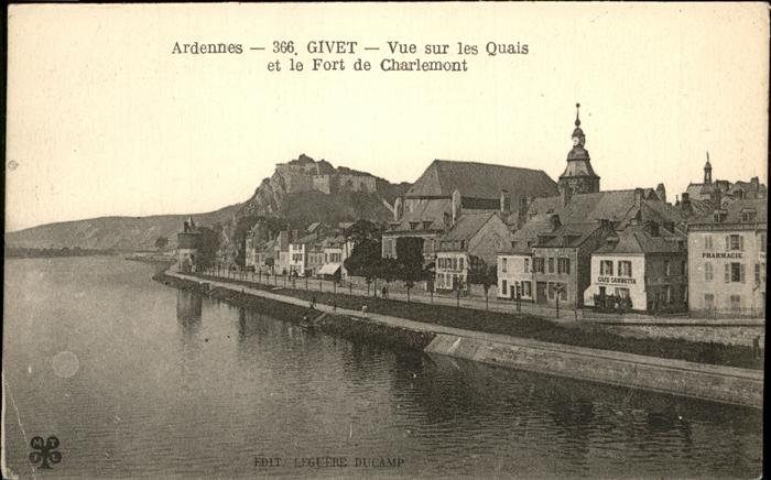 Givet Ardennes Quais Fort Charlemont / Givet /Arrond. de Charleville-Mezieres