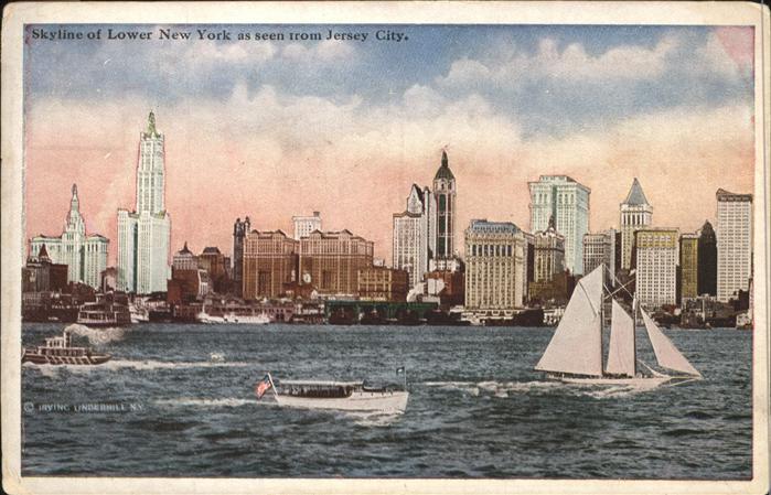 Jersey New York Sky Line Segelschiff