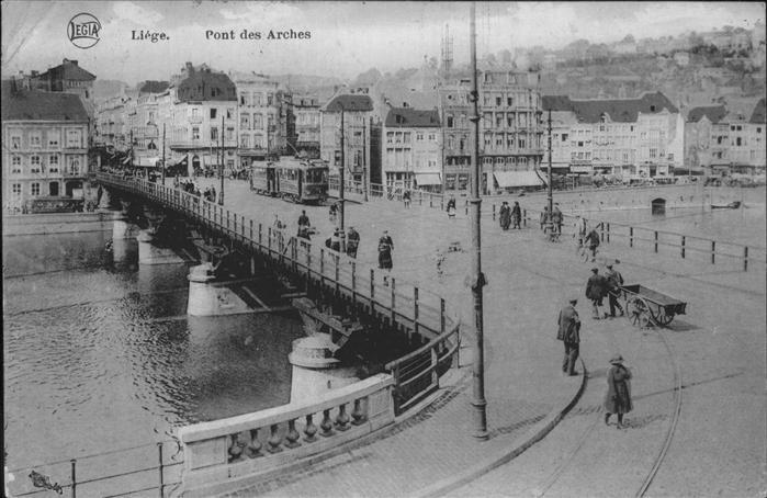 hw11455 Liege Luettich Pont Arches Strassenbahn Kategorie. Luettich Alte Ansichtskarten