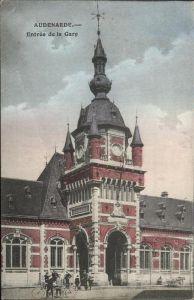 aw13093 Audenarde West-Vlaanderen Entree de la Gare Kategorie.  Alte Ansichtskarten