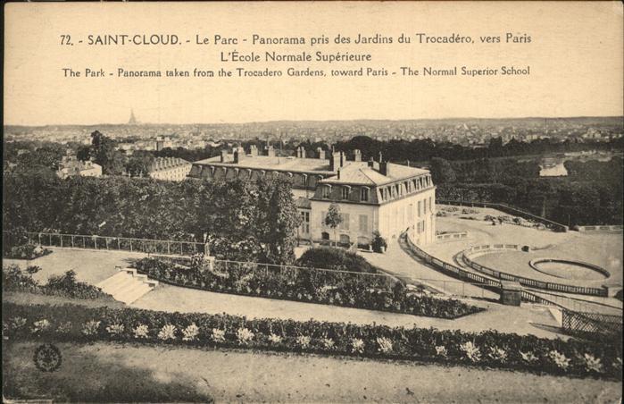 Saint-Cloud Hauts-de-Seine parc Ecole Normale Superieure / Saint-Cloud /Arrond. de Boulogne-Billancourt