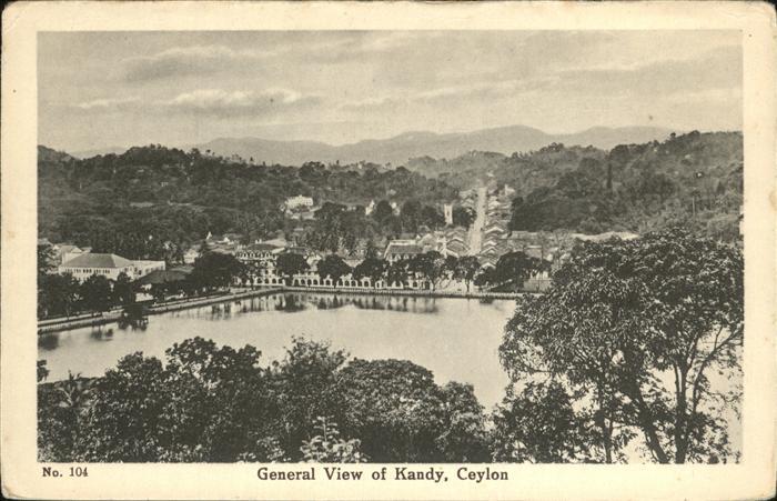Ceylon = Sri Lanka Kandy Kat.