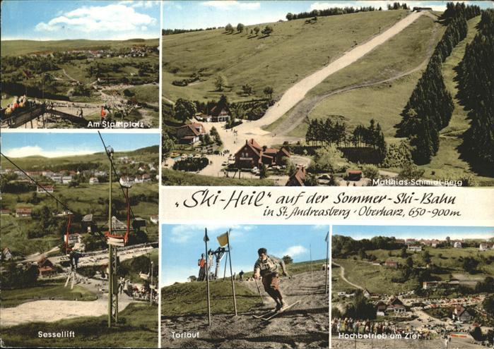 St Andreasberg Harz Matthias Schmidt Berg Sesselbahn Sommer Ski Bahn / Sankt Andreasberg /Goslar LKR