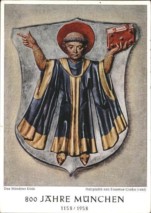 Muenchner Kindl Festkarte 800 Jahre Kat. Werbung
