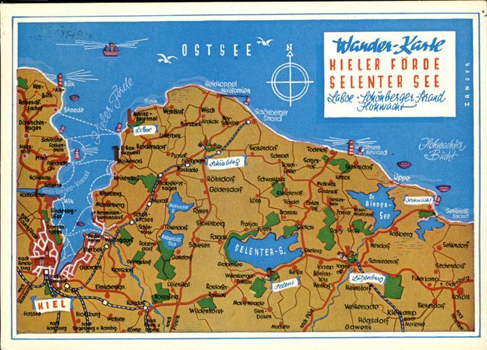 Kieler Bucht Karte.Kiel Wander Karte Kieler Foerde