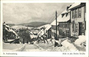 St Andreasberg Harz Winterimpressionen Breite Strasse / Sankt Andreasberg /Goslar LKR