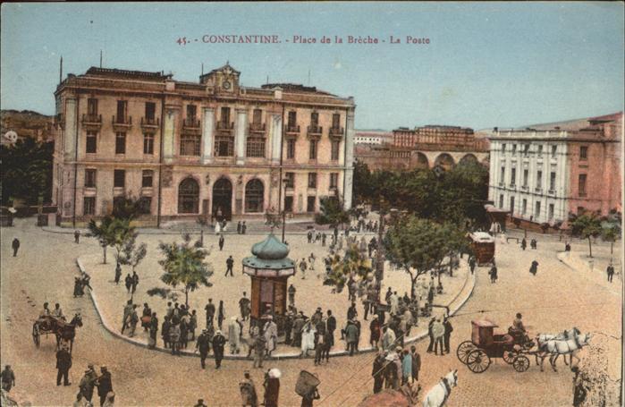 Constantine Place de la Breche La Poste Pferdekutsche