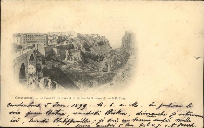 Constantine Le Ravin du Rhummel et le Pont El Kantara