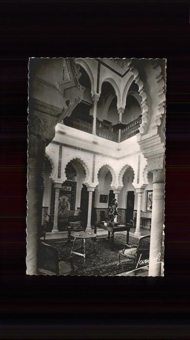 Alger Algerien Interieur d une maison mauresque / Algier Algerien /