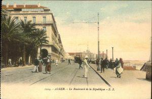 Alger Algerien Le Boulevard de la Republique / Algier Algerien /