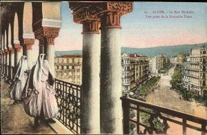 Alger Algerien Rue Michelet vue prise de la Nouvelle Poste / Algier Algerien /