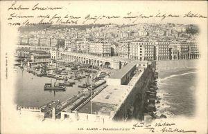 Alger Algerien Panorama Hafen Boote / Algier Algerien /