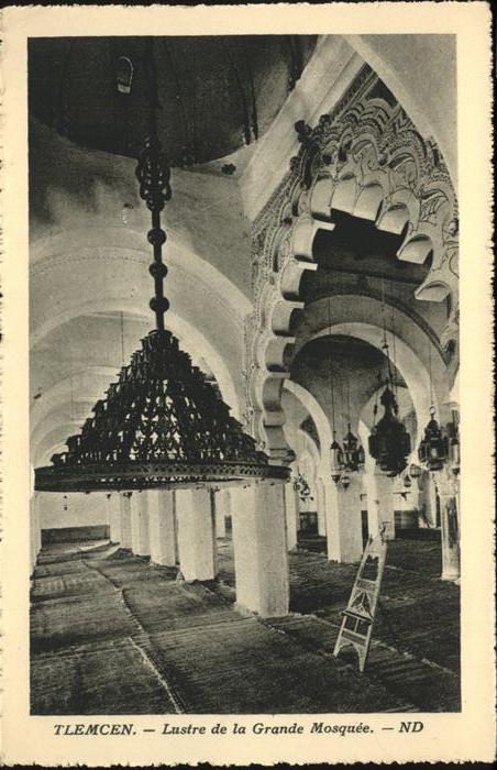Tlemcen Lustre de la Grande Mosquee