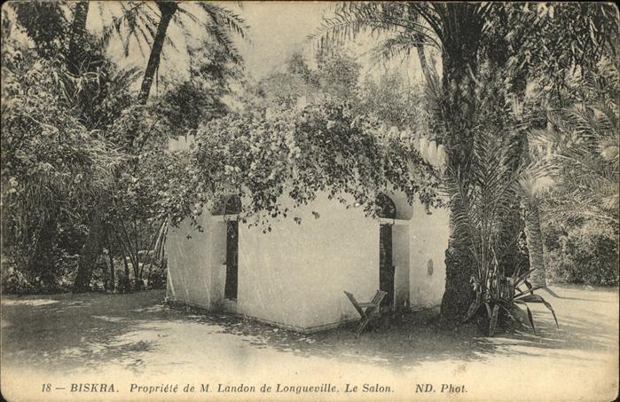 Biskra Propriete de M. Landon de Longueville le salon