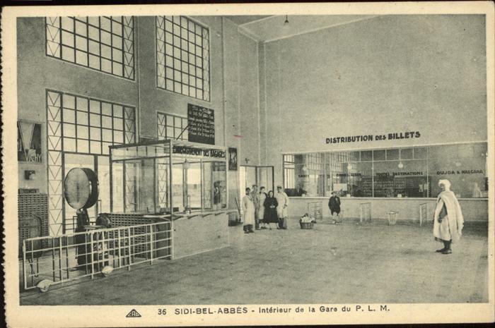 Sidi Bel Abbes Interieur de la Gare