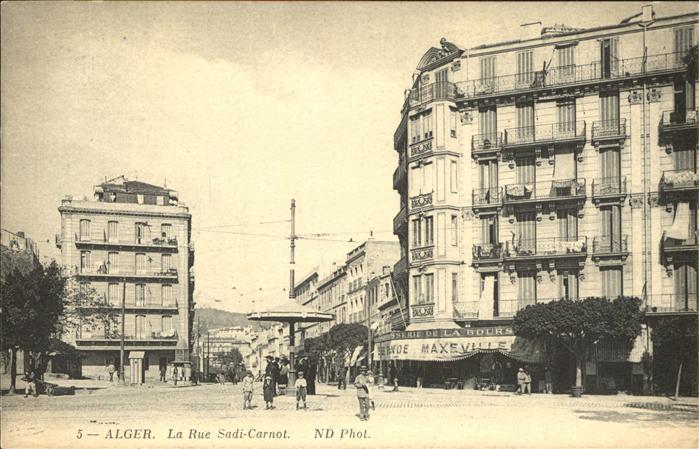 Alger Algerien La Rue Sadi Carnot / Algier Algerien /