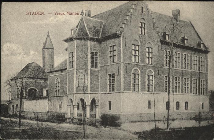 Staden West Vlaanderen Vieux Manoir Chateau Kat.