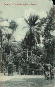 Ceylon = Sri Lanka Entrance to Peradeniys Gardens Kat.