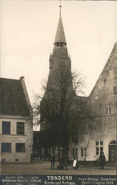 Tondern Kirche und Rathaus Kat.