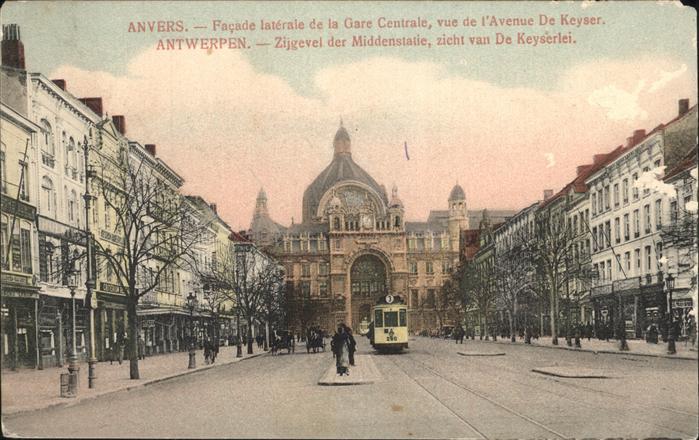 Anvers Antwerpen Strassenbahn Avenue de Keyser /  /