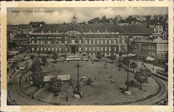 Liege Luettich Place Saint Lambert Strassenbahn / Luettich /Provinde Liege Luettich
