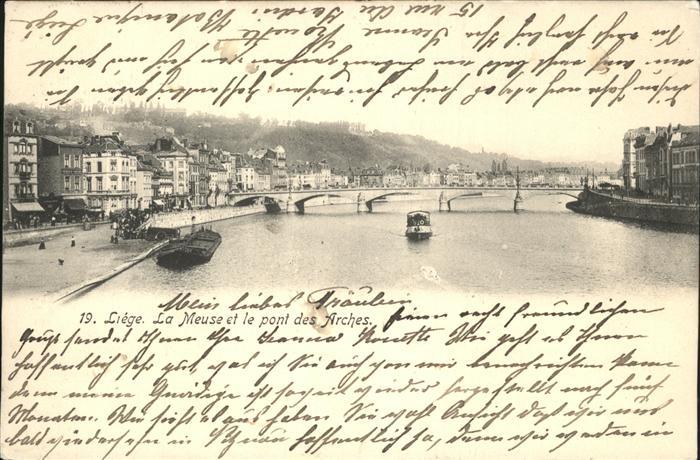 Liege Luettich Meuse pont des Arches / Luettich /Provinde Liege Luettich