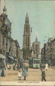 Anvers Antwerpen canal au Sucre Strassenbahn /  /