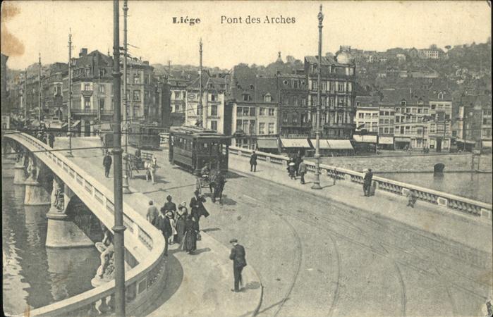 Liege Luettich Pont des Arches Strassenbahn Br?cke / Luettich /Provinde Liege Luettich