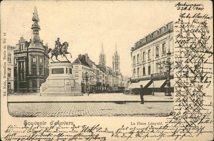 Anvers Antwerpen Place Leopold /  /