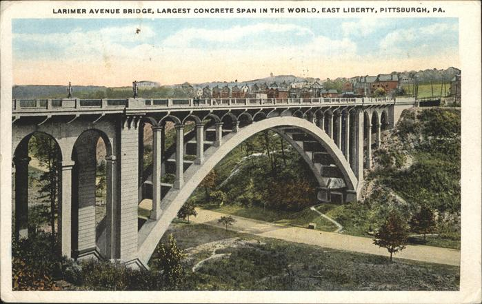 Pittsburg Pennsylvania Larimer Ave Bridge   Largest concrete span in the World   East Liberty