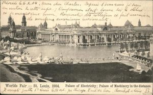 Saint Louis Missouri Worlds Fair Palace of Electricity Kat. United States