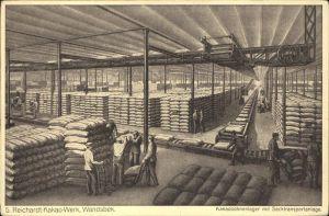 Wandsbek Reichardt Kakao Werk Kakaobohnenlager mit Sacktransportanlage / Hamburg /Hamburg Stadtkreis