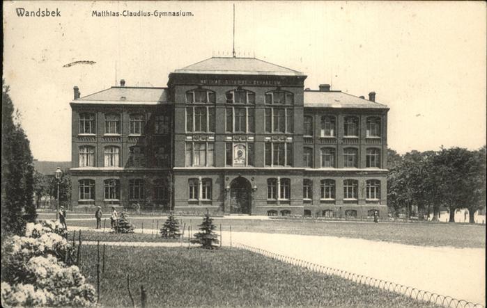 Wandsbek Matthias Claudius Gymnasium Hamburg Hamburg Stadtkreis