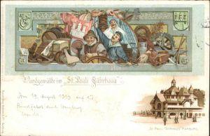 St Pauli Wandgemaelde St Pauli Faehrhaus / Hamburg /Hamburg Stadtkreis