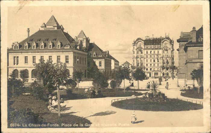 La Chaux-de-Fonds Place de la Gare / La Chaux-de-Fonds /Bz. La Chaux-de-Fonds