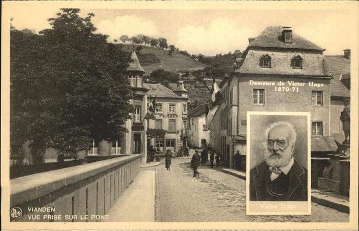 Vianden Vue prise sur le Pont Demeure de Victor Hugo