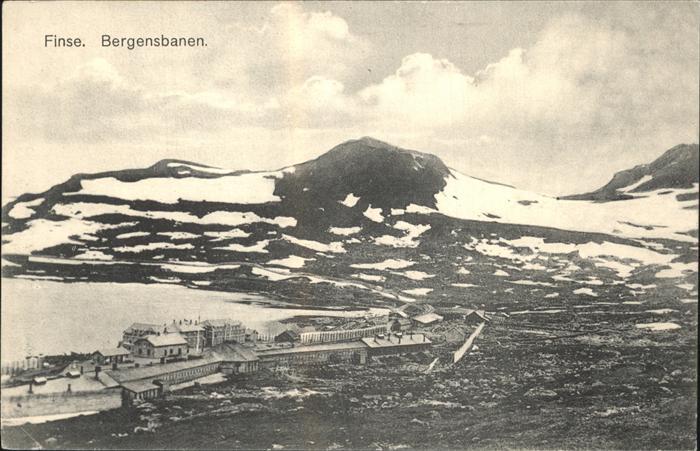 Finse Bergensbanen Bergbahn Bahnhof