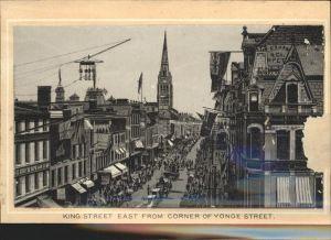 Toronto Canada King Street East from Yonge Street Church Kat. Ontario