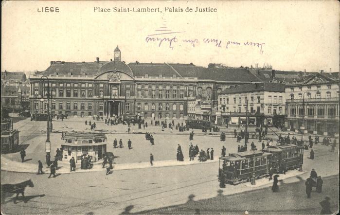 Liege Luettich Place Saint Lambert Palais de Justice Kat. Luettich