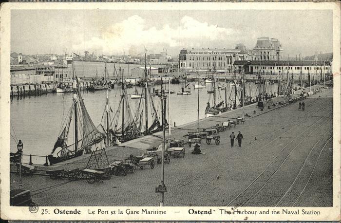 Ostende Flandre Le Port et la Gare Maritime Kat.