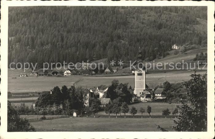 St Marein bei Neumarkt Steiermark Ortsansicht mit Kirche Kat.