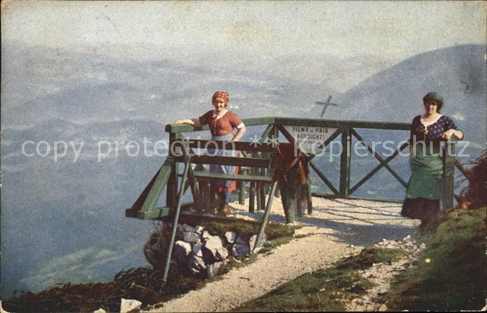 Hirschwang Rax Frauen auf Aussichtsplattform beim Ottohaus  / Reichenau an der Rax /Neunkirchen