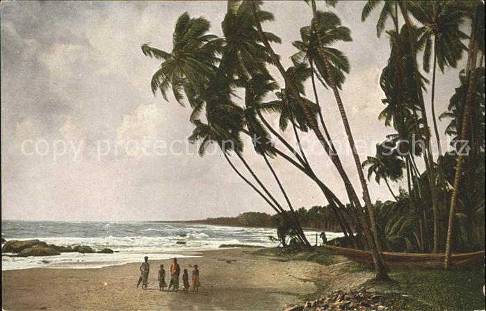 Ceylon = Sri Lanka Strandleben Kat.