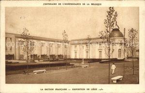 Exposition Liege 1930 Section Francaise Centenaire de L Independance de la Belgique Kat. Luettich