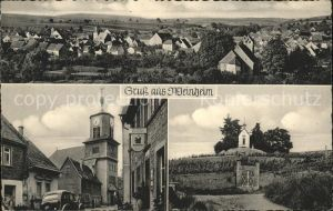 Weinheim Rheinhessen Strassenansicht mit Kirche Kat. Alzey
