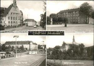 Heidenau Dresden Rathaus Heidenau Sued PdF Schloss Weesenstein / Dresden /Dresden Stadtkreis