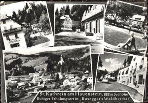 St Kathrein am Hauenstein Ortsansicht Strassenpartien Schwimmbad Kat. St Kathrein am Offenegg Steiermark